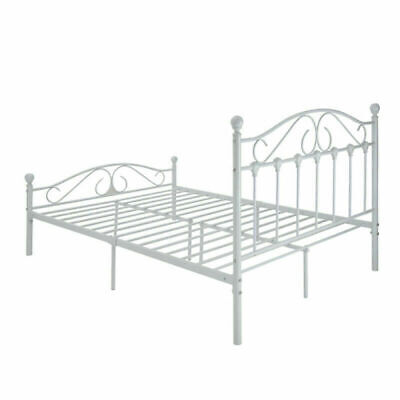 Panana Bed 4FT6 DOUBLE METAL BED FRAME WHITE BEDROOM FURNITURE