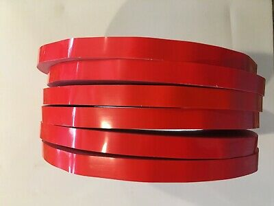 6 Rolls Red  Produce Poly Sealing Bag Sealer Tape 3/8 inch x 180 yards