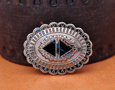 5X Native Navajo Bling Sliver Western Cowboy Hatband Headstall Slotted Conchos