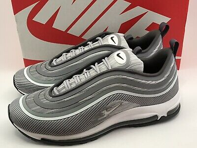 sale retailer 5d510 aedec Nike Air Max 97 Ultra  17 Wolf Grey White Silver Bullet 918356 007 Size 10.5