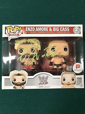 Funko POP! WWE Enzo Amore Big Cass Autographed Signed Walgreens Exclusive HTF