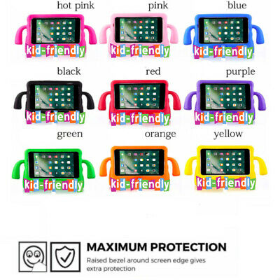 Children Kids Rubber Handle Shockproof EVA foam Stand Case Cover for iPad