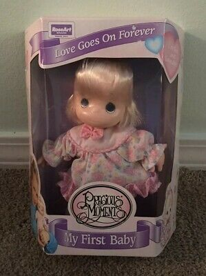 Vintage 1995 Precious Moments Love Goes On Forever Baby Doll-New In Box-Blonde