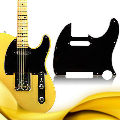 Black plated 2x Replacement Control Plate For Tele style Guitar Scratches