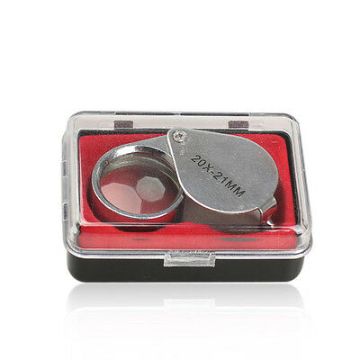 Mini 20 x 21mm Glass Magnifying Magnifier Jeweler Eye Jewelry Loupe Loop Triplet