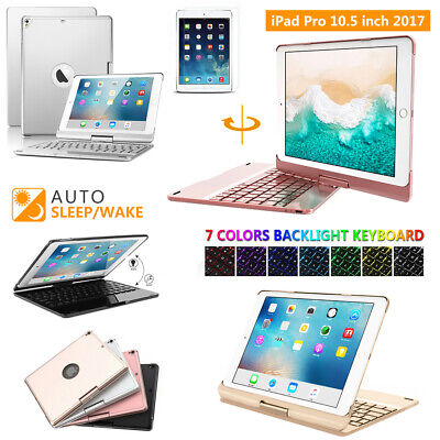 Bluetooth Backlit Keyboard 360 Rotating Protect Case For iPad Pro 10.5 Air 3 New