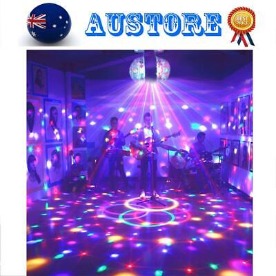 RGB Dual-head Rotary Disco Mirror Ball DJ Light Silver Dance Party Stage Light
