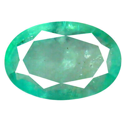 0.88 ct Eye-opening Oval Cut (7 x 5 mm) Colombian Emerald Natural Gemstone