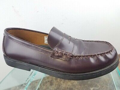 915f0ae27d2 Sperry Top-Sider Colton Burgundy Leather Slip Casual Penny Loafers Boys 7W
