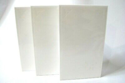 3 x VHS VIDEO WHITE EMPTY  CASES / COVERS NEW NEVER USED