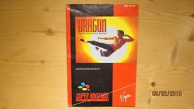 Dragon The Bruce Lee Story Super Nintendo SNES Instruction Manual Booklet
