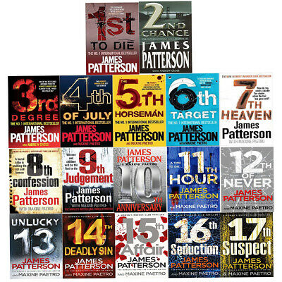 James Patterson Womens Murder Club Collection 17 Books Set 17th Suspect New