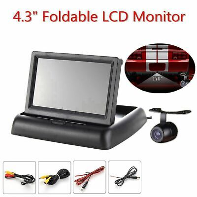 """4.3"""" Foldable Color TFT LCD Monitor+Car Rear View System Backup Reverse Camera"""