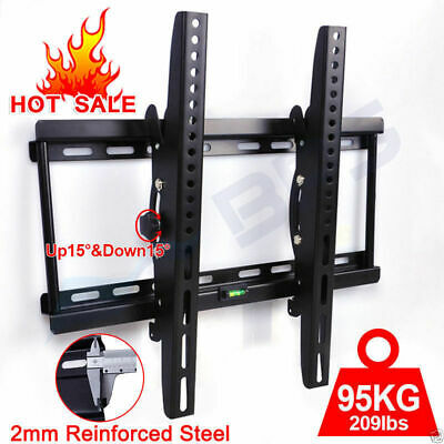 TILT TV WALL BRACKET MOUNT LCD LED Plasma OLED 32 37 40 42 46 50 52 55 Inch 95KG