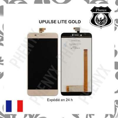 Ecran Lcd Complet + Vitre Tactile Wiko Upulse Lite Or+Outils +Colle B7000