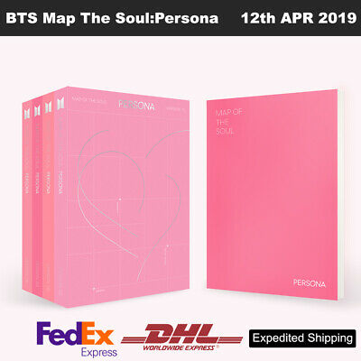 BTS MAP OF THE SOUL : PERSONA Album 4SET CD+Photobook+Card+Etc+Express Ship