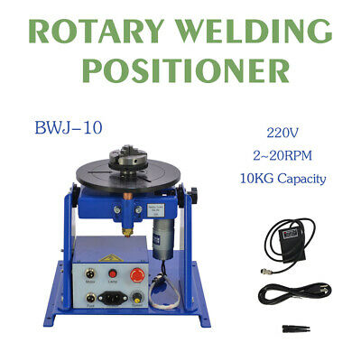 """Rotary Welding Positioner Turntable Table Mini 2.5"""" 3 Jaw Lathe Chuck 220V"""