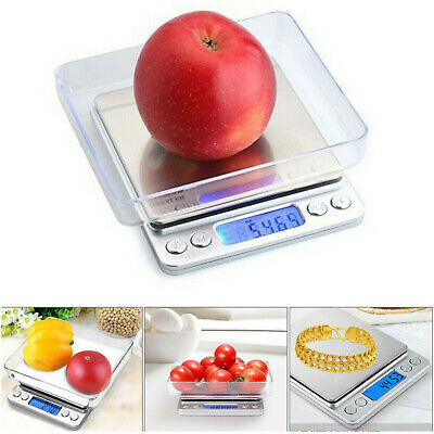 0.01g-500g Electronic Pocket Digital LCD Weighing Scales Food Jewellery Kitchen