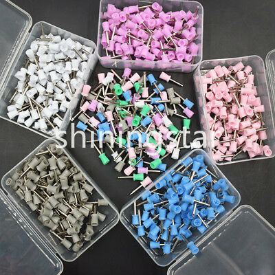 100 Pcs 4 Webbed Dental Polishing Polisher Cup Prophy Bowl Latch Rubber Brush