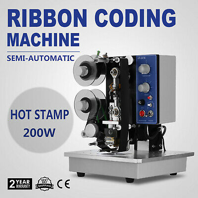 Ribbon Coding Machine Adjustable HP-241B Foot Switch Different Seal Material