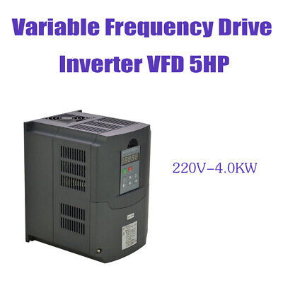 4Kw 220V 5Hp New Top Hq Vfd Variable Frequency Drive Inverter Updated For Cnc