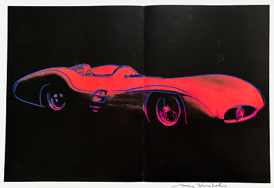 """Andy Warhol, """"Cars Mercedes Benz"""" hand signed Print, 1986 with COA"""