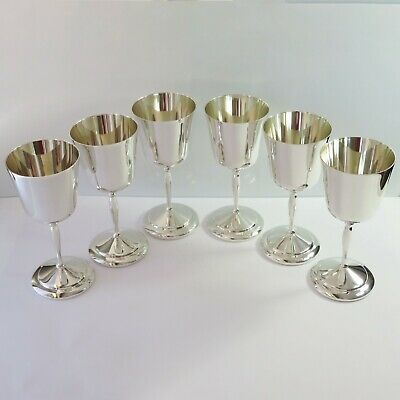 Vintage Perfection Silverplate Wine Goblets/Cups Set of 6