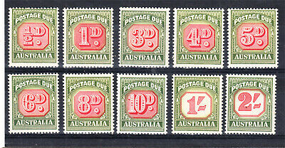 1958 -60 Postage Dues Mint Unhinged X 10 Different To 2/- (L83)