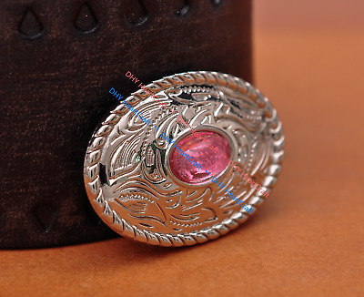 10X Bling Silver Western Oval Pink Rhinestone Headstall Saddles Conchos Tack
