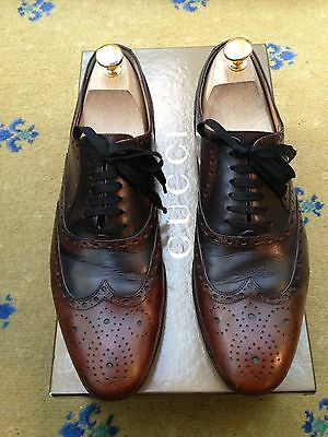 1908ba08fba Gucci Men Shoes Brown Leather Lace Up UK 6.5 US 7.5 EU 40.5 Made in Italy
