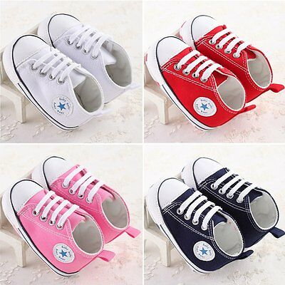 Infant Toddler Baby Boys Girls Soft Sole Crib Shoes Sneaker Newborn to 12 Months