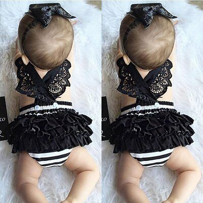 Newborn Infant Baby Girls Romper Bodysuit Jumpsuit Dress Outfits Sunsuit Clothes