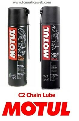 MOTUL CHAIN LUBE 400ML grasso spray per catena moto, go-kart ROAD / OFF ROAD