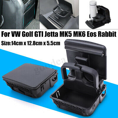 Rear Armrest Cup Holder Central Console For VW Golf GTI Jetta MK5 MK6 EOS