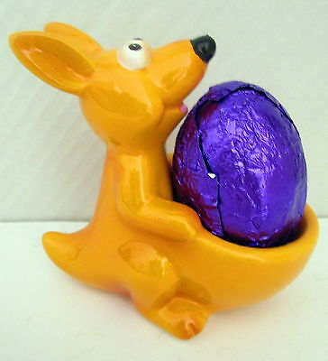 Egg Cup - Kangaroo Her Pouch Converts To Egg Holder + Free Chocolate Easter Egg!
