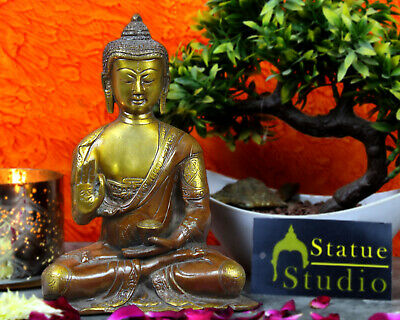 """Antique Sitting Blessing Living Room Décor Buddha Statue Figurine 8"""""""