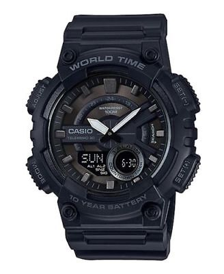 Casio AEQ110W-1BV, Men's Databank 30 Watch, 100M, 3 Alarms, Chronograph, Resin