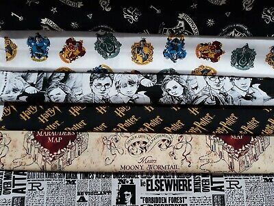 Curtains-Bedding-Cushions-HARRY POTTER 100% Cotton LICENSED OFFICIAL FABRICS