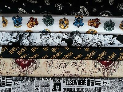Furnishings-Crafts HARRY POTTER 100% Cotton LICENSED OFFICIAL FABRICS 9 Designs
