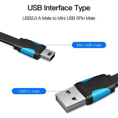 Mini / Micro USB Charging Cable Cell Phone USB 2.0 Data Sync Charger Flat Cable