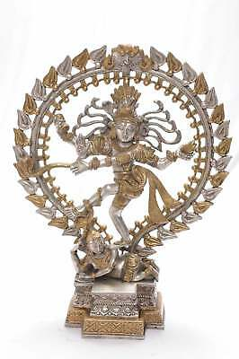 Brass Hindu God Lord Shiva Dancing Natraj Idol Religious Craft Décor Figure 17""