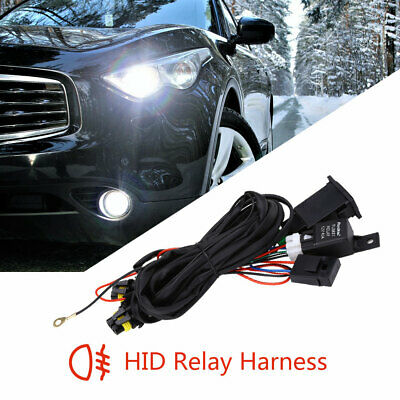 HID Conversion Wiring Relay Fog Lamp Wire Harness H3 H1 H11 H4 H7 9005 9006 Kit