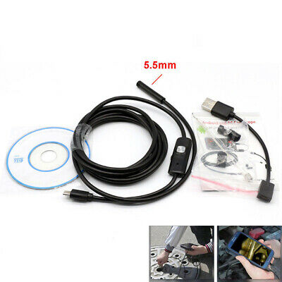 Waterproof 5.5mm Snake Endoscope Borescope Inspection Scope for Android Mobile