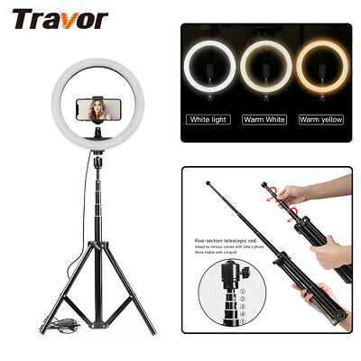 UK Video Photo Ring Light Lighting Kit 12inch Outer Dimmable LED + Light Stand