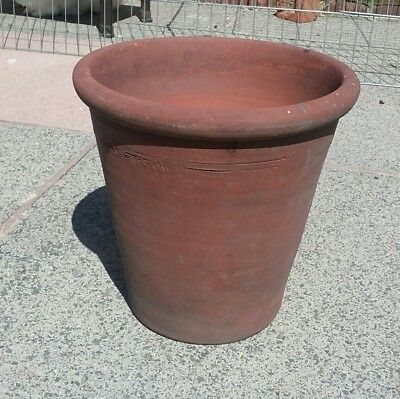 """9.5"""" HOLDING Bros pottery Oswaldtwistle Terracotta Plant Pot vintage Hand thrown"""