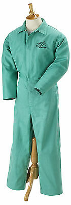 Revco Flame Resistant FR Cotton Green Coveralls Size Large F9-32CA/PT