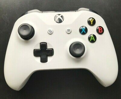 Official Microsoft Xbox One / 1 S Wireless Controller White with 3.5mm Jack VGC