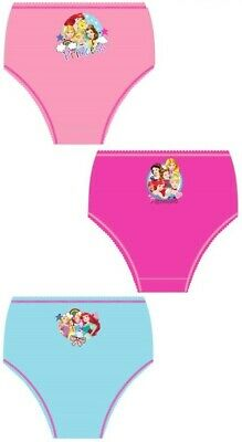 Girls Kids Disney Princess Pants Underwear Briefs Knickers Set 1-5 Years 3 Pack