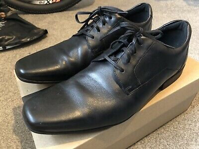 57b732e72d417 Mens Clarks Glement Over Black Leather Formal Lace Up Shoes G Fitting UK 9