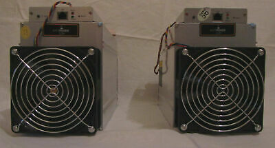 2 Litecoin miners Bitmain L3+ 504 MH/s with APW3+ and APW3++ power supply